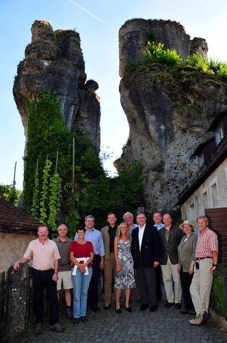 Besuch von Bundesminister Jung in der Fränkischen Schweiz