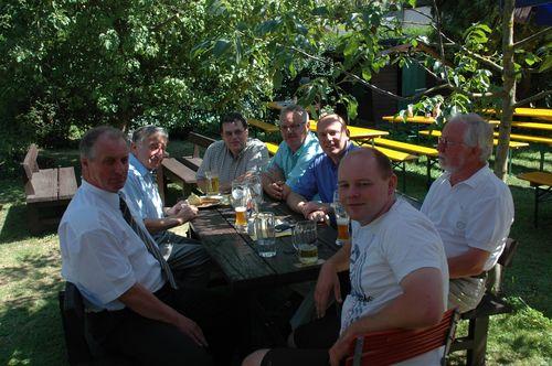 MdB Koschyk mit Andreas Opel, Bruno Heider, Max-Theo-Walter und Jürgen Jöbstel bei der Krenfleischkerwa