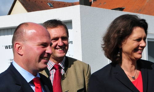 Hartmut Koschyk MdB, Landrat Hermann Hbner und Bundesministerin Ilse Aigner MdB