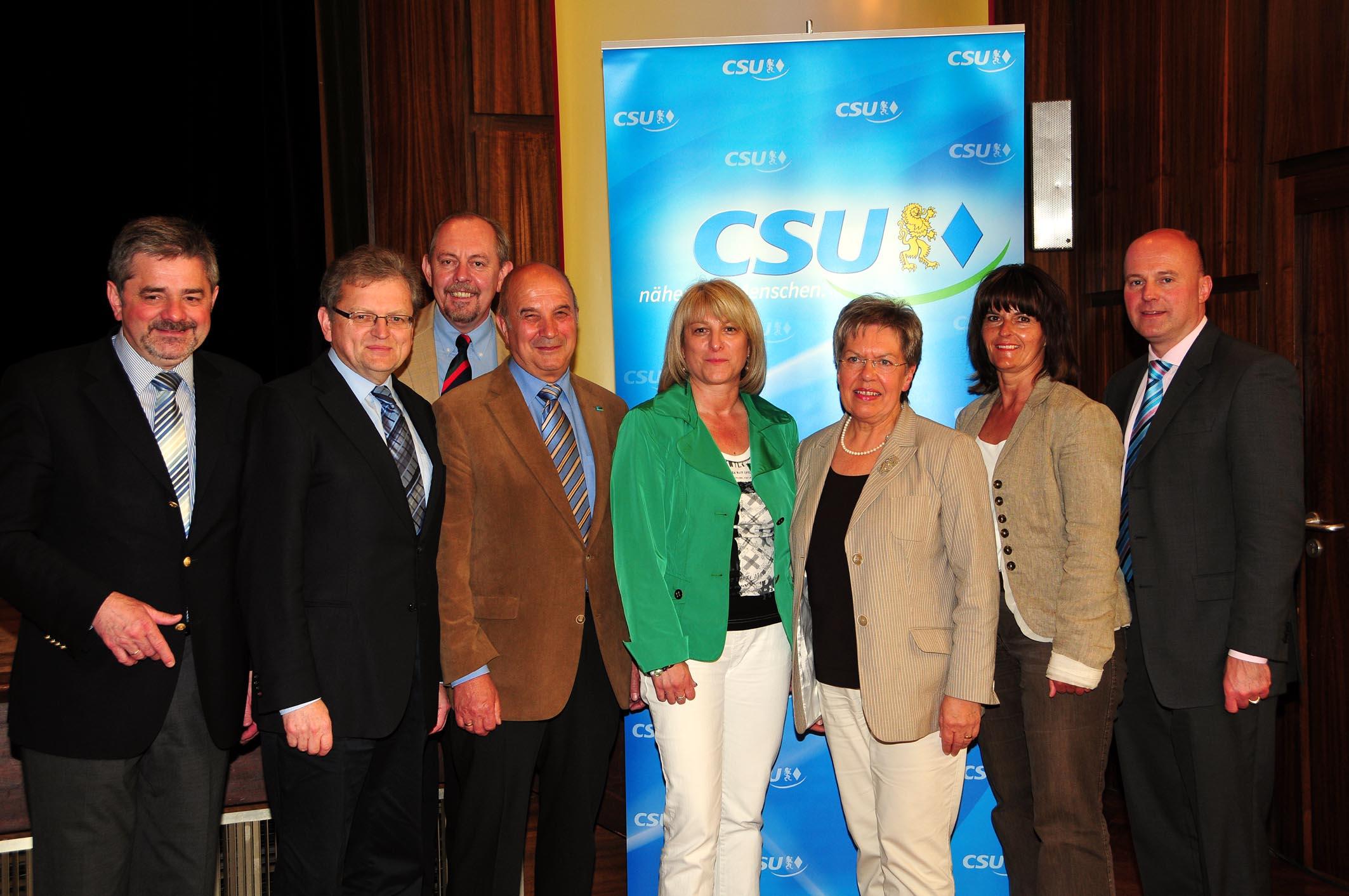 Die neue Führungsmannschaft der Landkreis-CSU