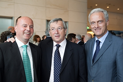 Hartmut Koschyk MdB, Ministerpräsident Jean Claude Juncker und Dr. Peter Ramsauer MdB