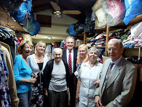 die Kleiderkammer der Deutschen Wohltätigkeitsgesellschaft in Buenos Aires, für die in Deutschland gebrauchte Kleidung gesammelt wird DSCF0311