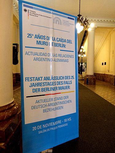 eindrucksvoller Festakt anlässlich des 25. Jahrestages des Berliner Mauerfalls im Argentinischen Abgeordnetenhaus DSCF0373