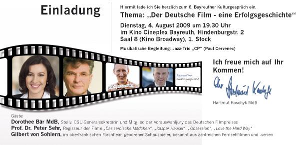Kulturgespraech Deutscher Film
