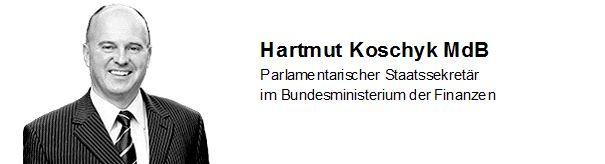 Parlamentarischer Staatssekretär Hartmut Koschyk MdB
